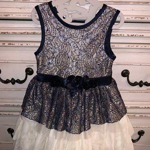 Navy & Ivory Lace Nanette Lepore Dress, 3T